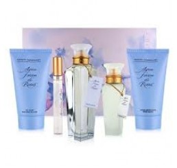 Set Agua rosas edt 120ml + edt 10ml + gel 150ml + deo 150ml + body 150